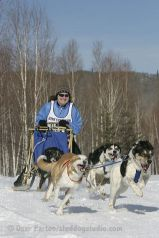 Me racing sled dogs